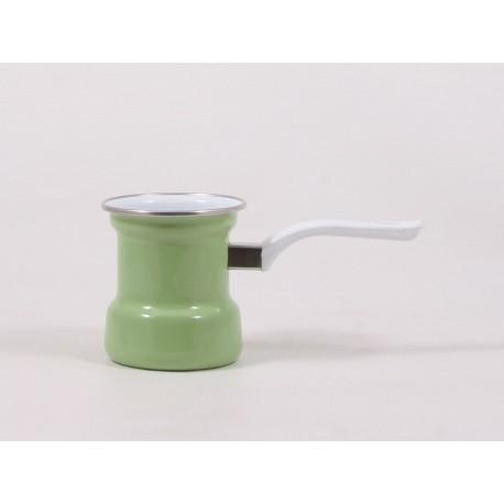 Emaliuotas kavinukas žalias 0,4 l.