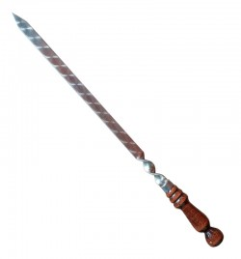Iešmas 'liulia kebab' 550/20mm su medine rankena