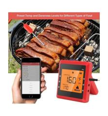 Išmanusis termometras Easy BBQ (raudonas)