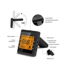 Išmanusis termometras Easy BBQ (juodas)