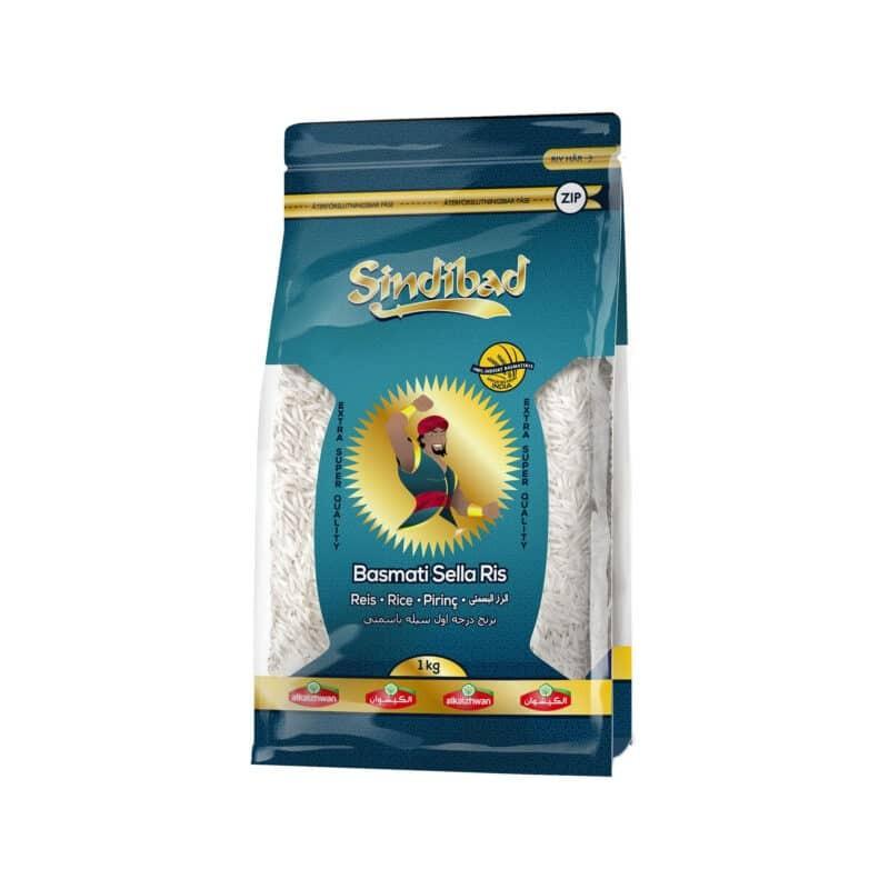 """Basmati SELLA ryžiai """"SINDIBAD"""" 1 kg"""